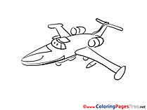 Plane Coloring Pages for free