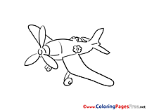 Plane Colouring Sheet download free