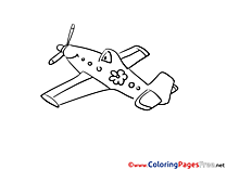 Tour for Kids Airpane Colouring Page