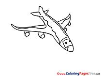 Tour plane Colouring Page printable free