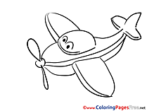 Travel Airplane download Colouring Page