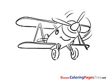 Airplanes coloring sheets