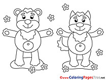 Animals download Colouring Sheet free