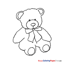 Bear download printable Coloring Pages
