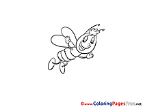 Bee for free Coloring Pages download