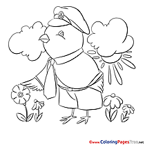 Bird for Children free Coloring Pages