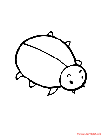 Bug printable coloring page