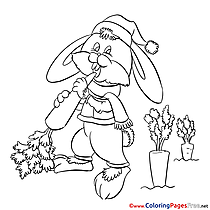 Bunny Coloring Sheets download free