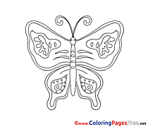 Butterfly for free Coloring Pages download