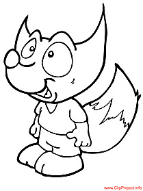 Fox coloring page for free