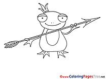 Frog Colouring Sheet download free