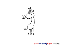 Giraffe Coloring Pages for free