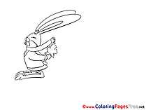 Hare for Kids download Coloring Pages
