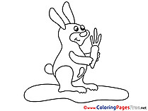 Hare printable Coloring Sheets download
