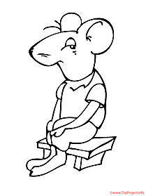 Mouse coloring picture for free