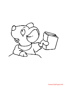 Mouse printable coloring page free