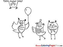 Owl printable Coloring Pages for free