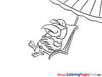 Raven Children Coloring Pages free