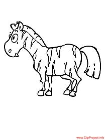 Zebra coloring page free