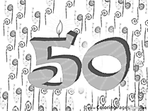 50 Years download Birthday Coloring Pages