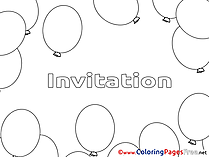 Balloons free Birthday Coloring Sheets