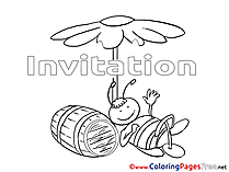 Barrel Birthday Coloring Pages free