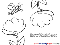 Bee Birthday Coloring Pages free
