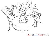 Birthday Coloring Pages download