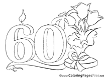 Bluebell 60 Years printable Coloring Pages Birthday