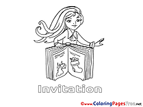 Book Colouring Sheet download Birthday