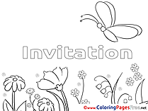 Butterfly free Birthday Coloring Sheets