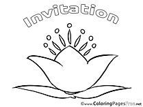 Card Invitation Birthday Coloring Pages download