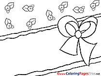 Card Invitation Colouring Page Birthday free