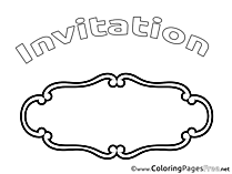 Card Kids Birthday Coloring Page