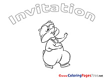 Chipmunk Coloring Pages Birthday