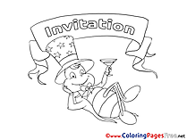 Cockroach Kids Birthday Coloring Pages