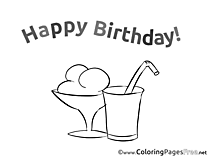 Cocktail Coloring Sheets Birthday free