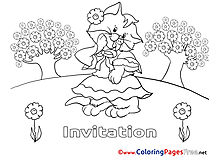 Colouring Sheet download Birthday
