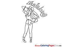 Cool Woman free Birthday Coloring Sheets