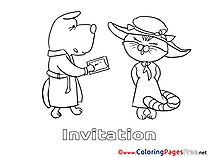 Dog printable Birthday Coloring Sheets