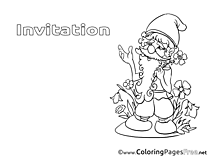 Dwarf Kids Birthday Coloring Page