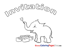 Elephant Coloring Sheets Birthday free