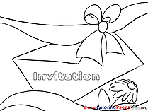 Envelope download Birthday Coloring Pages
