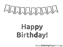Flags Birthday Coloring Pages free