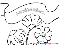 Flowers Birthday Coloring Pages download