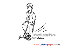 Football Invitation free Coloring Pages