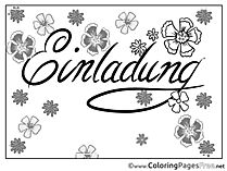 For Kids Birthday Colouring Page