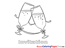 Glasses Colouring Sheet download Birthday