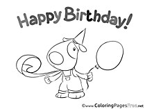 Happy Birthday free Coloring Pages