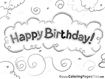 Happy Birthday printable Coloring Sheets